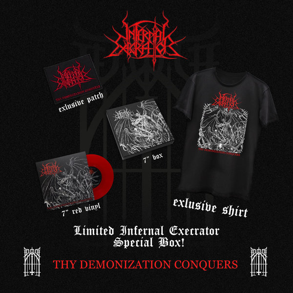 "Infernal Execrator - Thy Demonization Conquers 7"" box set"